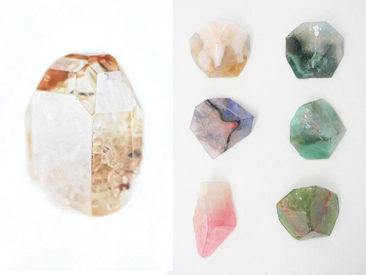 Carly Waito gemstone painting Beklina soap rocks