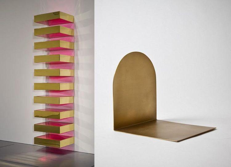 Donald Judd minimalism brass bookend Broberg & Ridderstråle art design