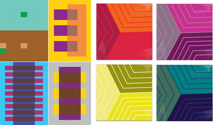 Josef Albers color theory app coasters gift guide purple yellow green blue red