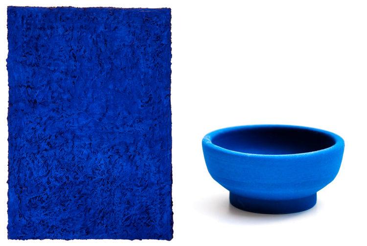 Yves Klein blue ceramic bowl handmade gift guide