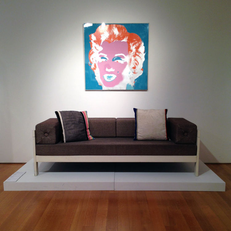 Ettore Sottsass private collection sale Christie's Italian industrial furniture design sofa Poltronova Andy Warhol