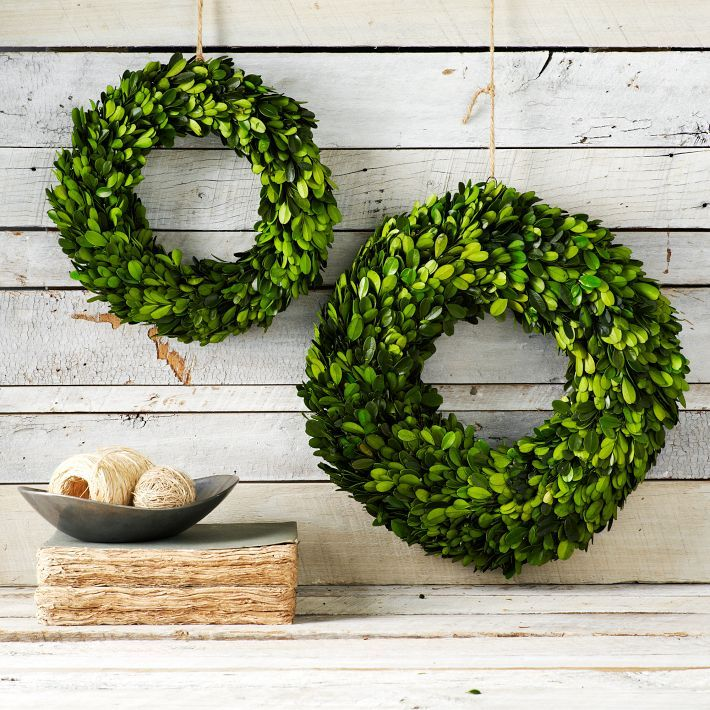 Boxwood Round Wreath from West Elm