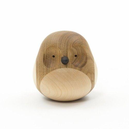 Re-Turned Owl Wood Figurine