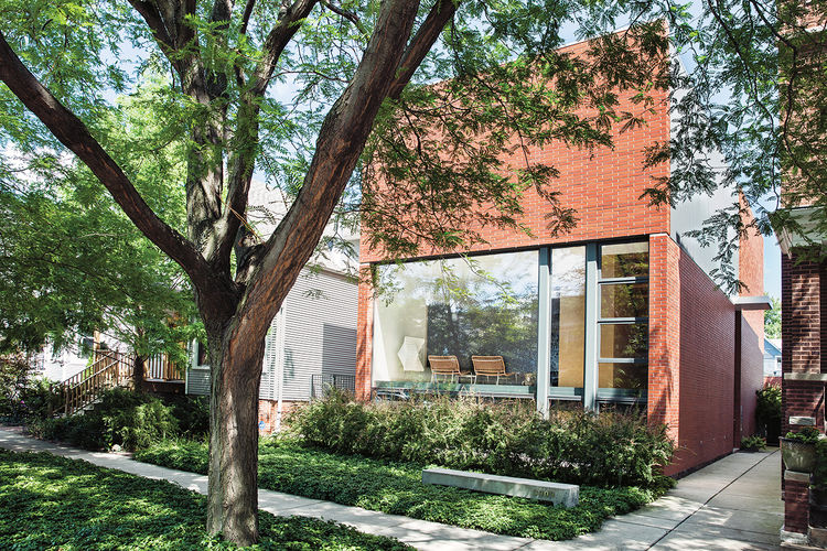 brick-clad renovation in Chicago exterior