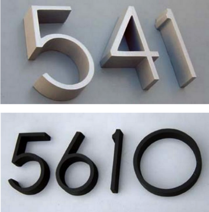 Architectural Numbers Weston modern house numbers facade outdoor exterior