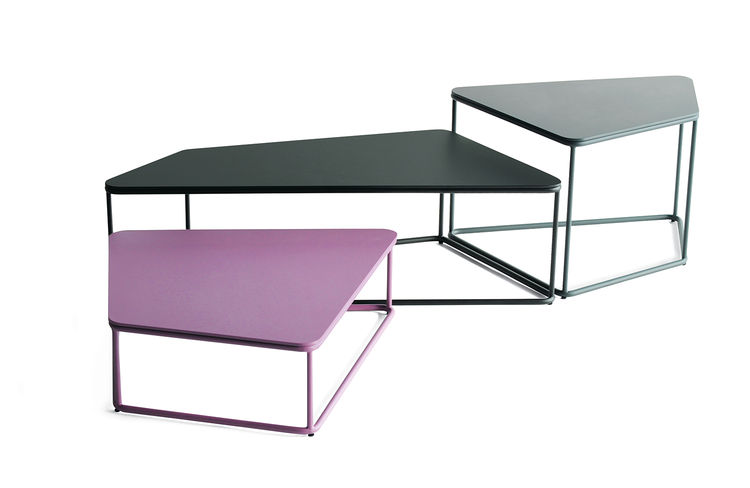 Feiz Phase design tables in powder-coated steel