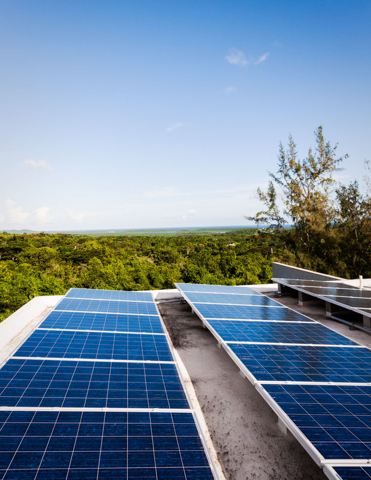 John Hix concrete modern off the grid solar power green building Caribbean Vieques hotel eco resort