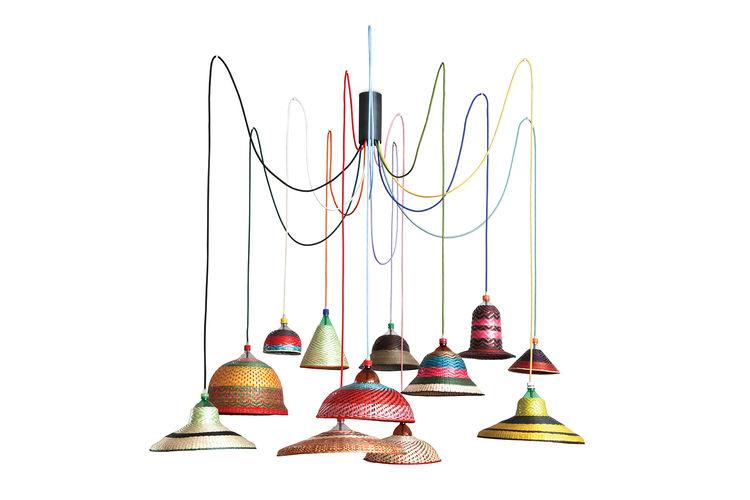 emerging spanish designer crafts textile-like lampshades