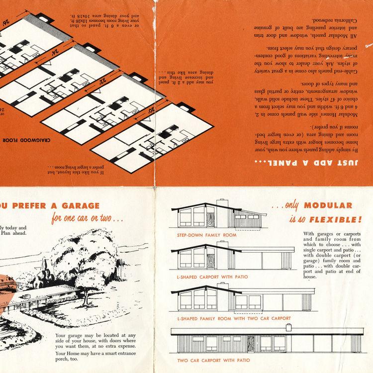 Brochure, Ralph Fournier, midcentury modern