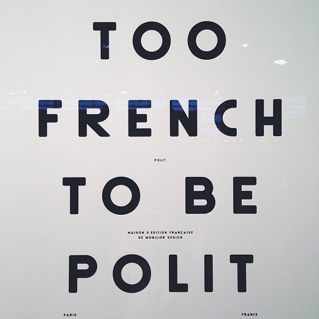 Too french to be polit poster french design