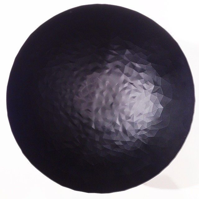 Alessi black faceted bowl at Maison&Objet 2014