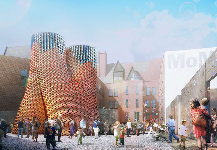 the Living moma ps1 courtyard young architects program green bio technology architecture