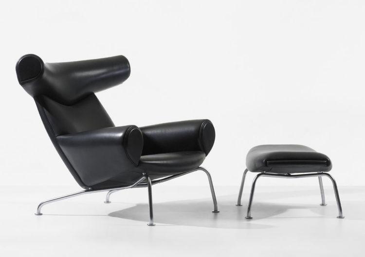 Hans Wegner Ox chair leather armchair Danish design