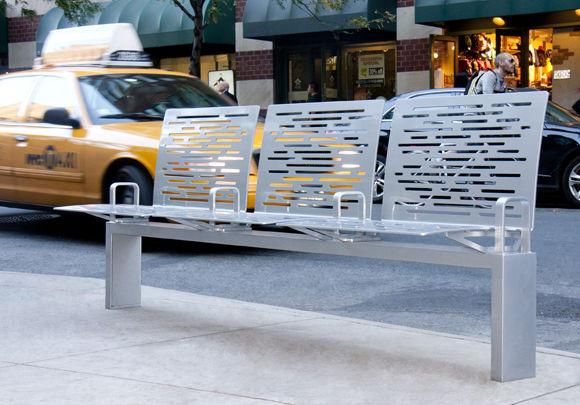 Ignacio Ciocchini City Bench manufactured by Landscape Forms/Studio 431