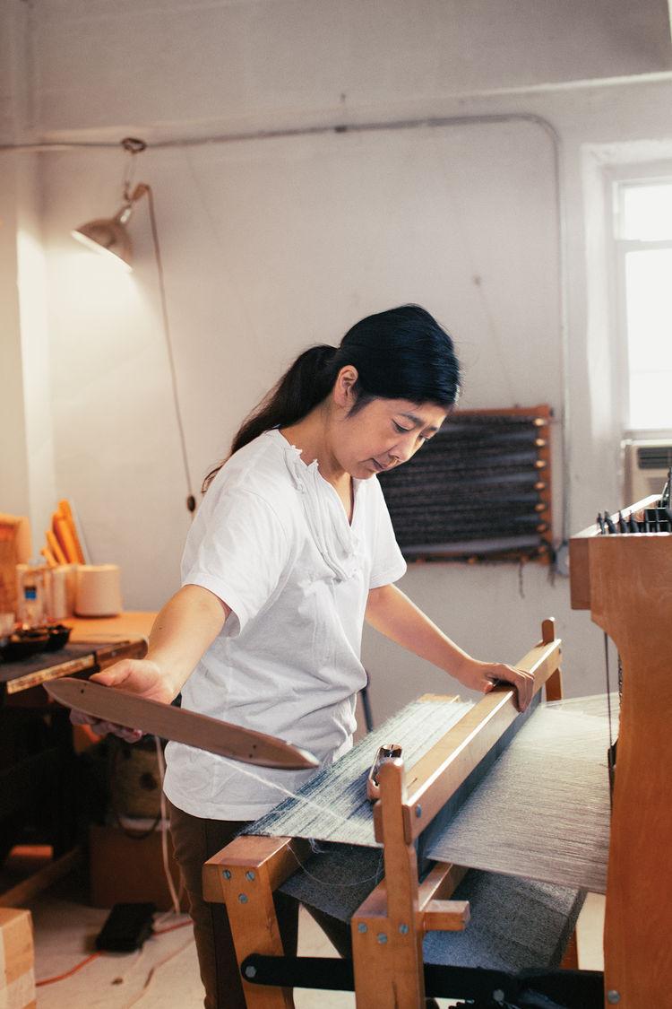 designer spotlight Hiroko Takeda working in studio