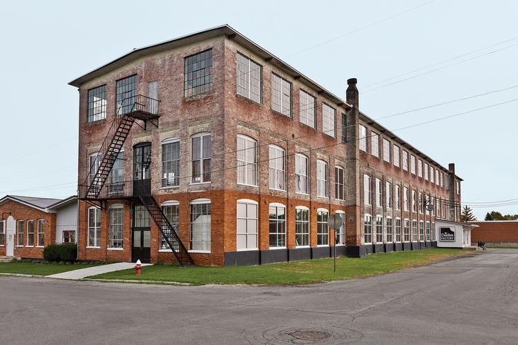 Phillips 19th-century factory exterior