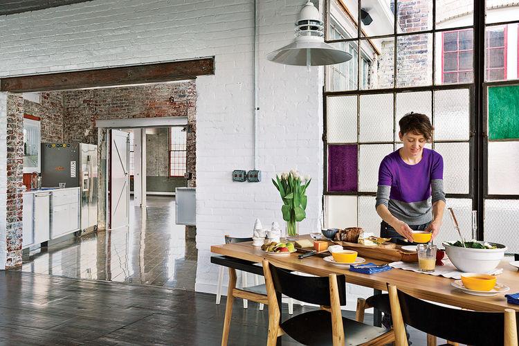 Phillips 19th-century factory interior dining room