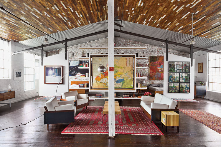 Phillips factory interior living room