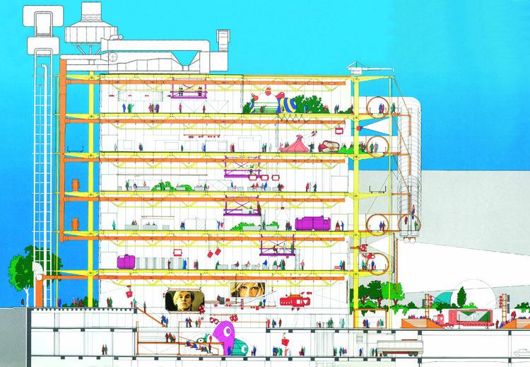 Pompidou Center cross-section