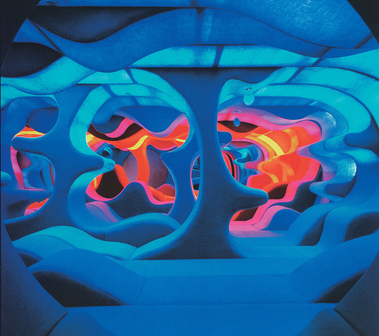 """Phantasy Landscape,"" Visiona 2, IMM Köln  Möbelmesse / Cologne Furniture Fair, 1970"