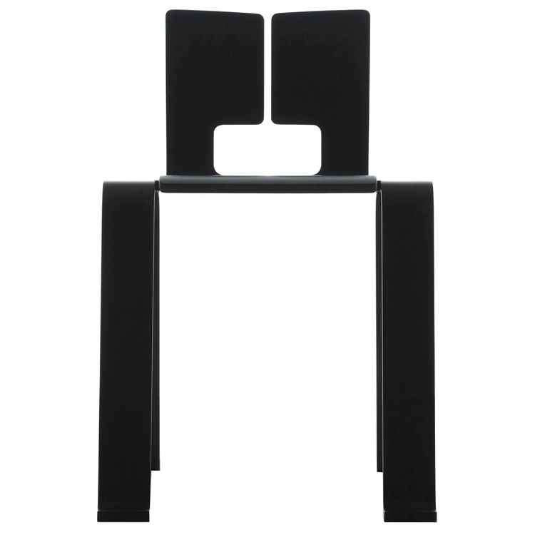 charlotte perrians black plywood ombre chair