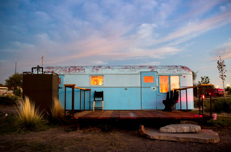 blue, trailer, Texas