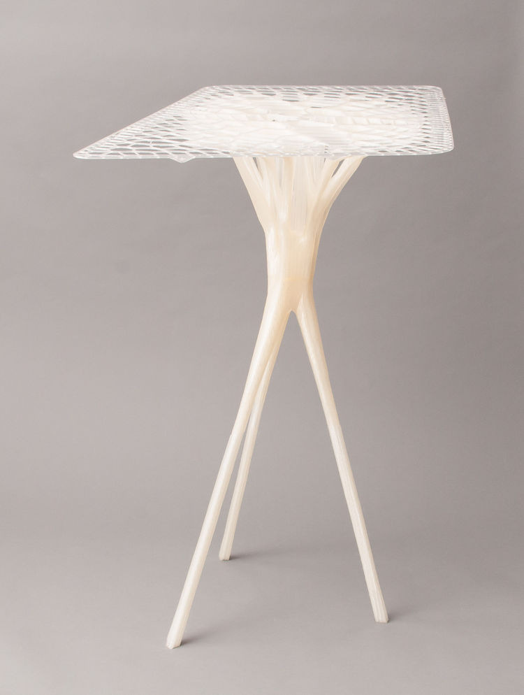 Organic table design by Exploration Archtecture