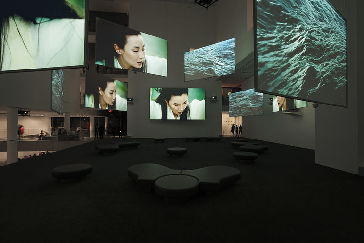 ten thousand waves installation by Isaac Julien