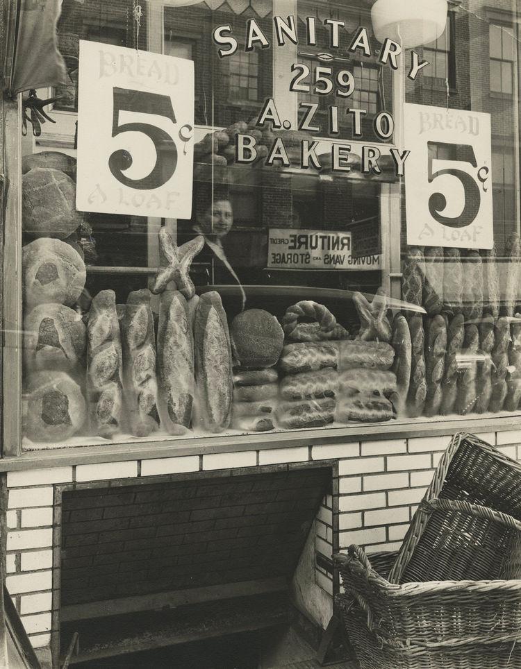 Berenice Abbott -- Bread Store, 259 Bleecker Street, Manhattan, February 3, 1937