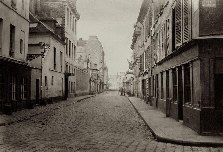 Charles Marville -- Rue des Fosses-St.-Victor, de la rue St. Victor, 1865-1869