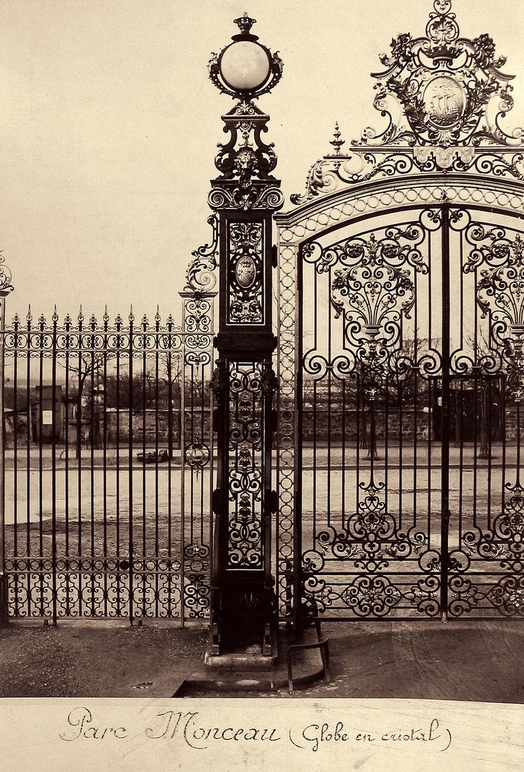 Charles Melville -- Parc Monceau (Globe en cristal), 1865-69