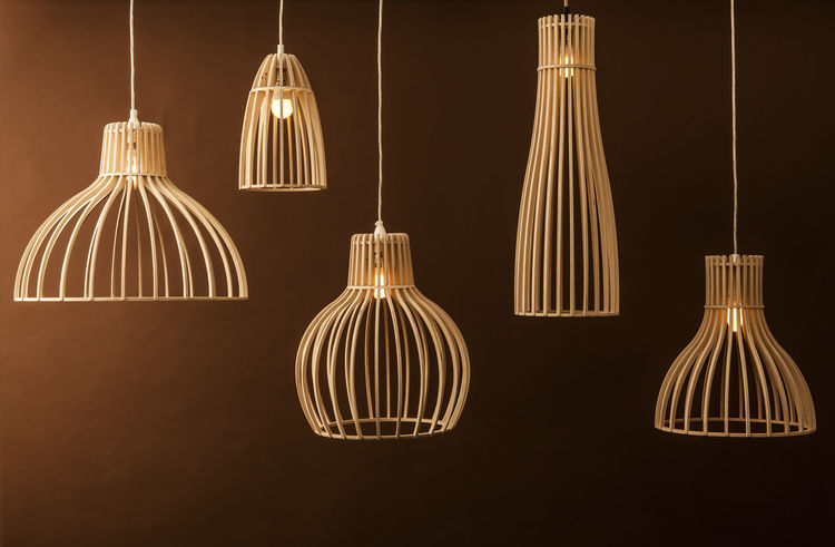wooden lampshades from Minima