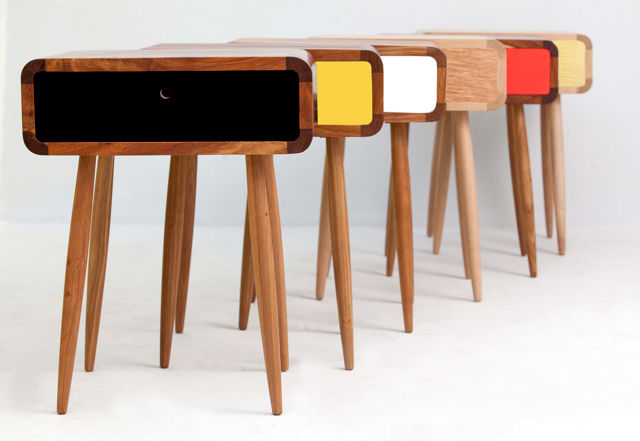 moder colorful wood tables from south africa