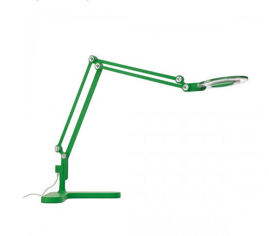 green LED table lamp by Peter Stathis for Pablo