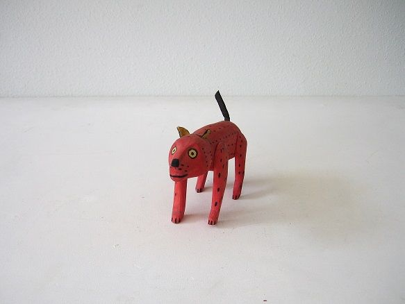 "7. Oaxacan ""Alebrijes"" Carved Wooden Dog, circa 1950s"