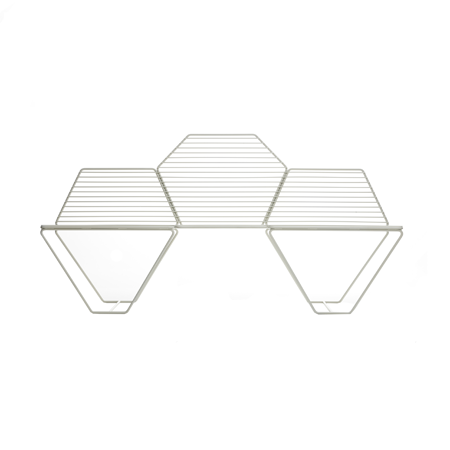 casamania white hexagon metal bench