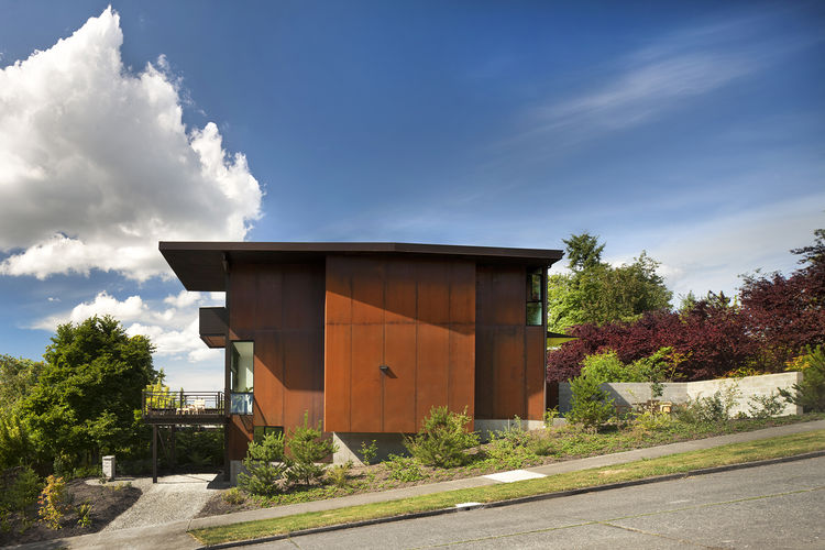 olson kundig hammer house metal facade