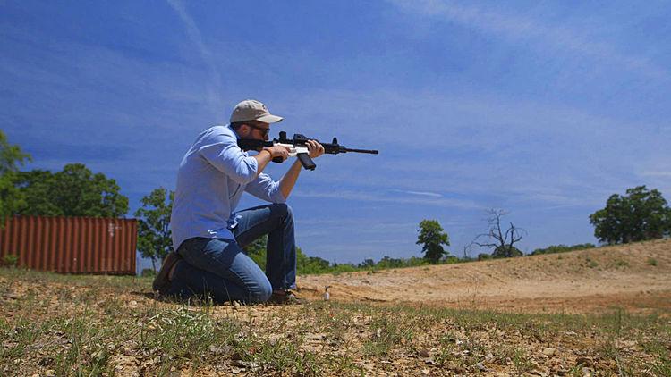 Cody Wilson at a Firing Range