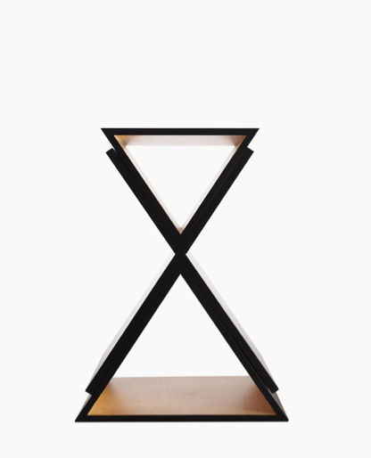 black birch stool with storage