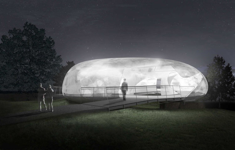 Smiljan Radic Exterior Serpentine Pavilion Night