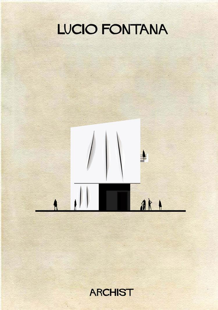 Federico Babina Archist series art architecture Lucio Fontana