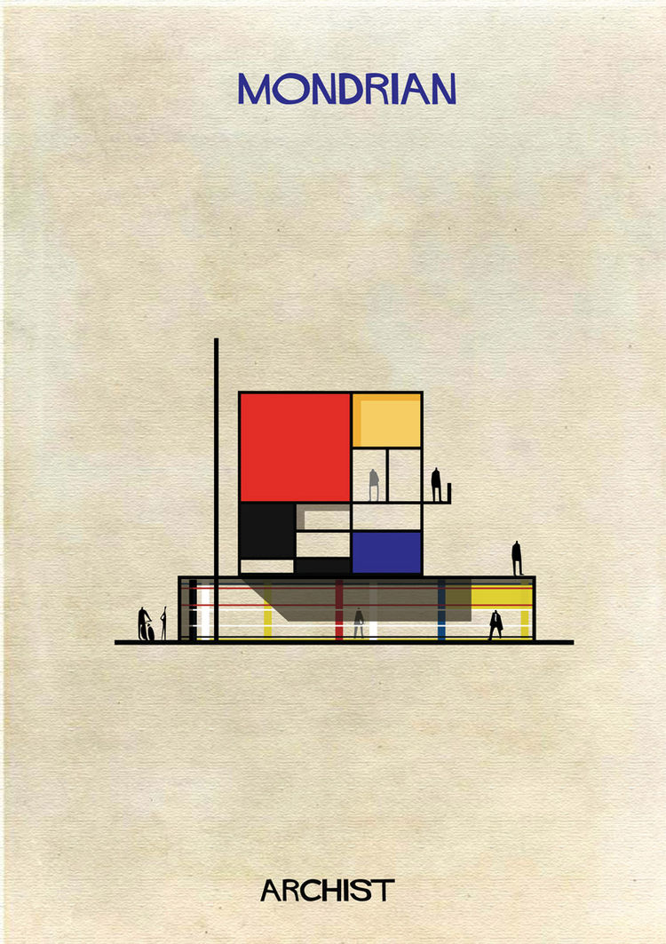 Federico Babina Archist Mondrian art architecture series