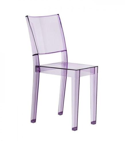 a transparent plastic chair