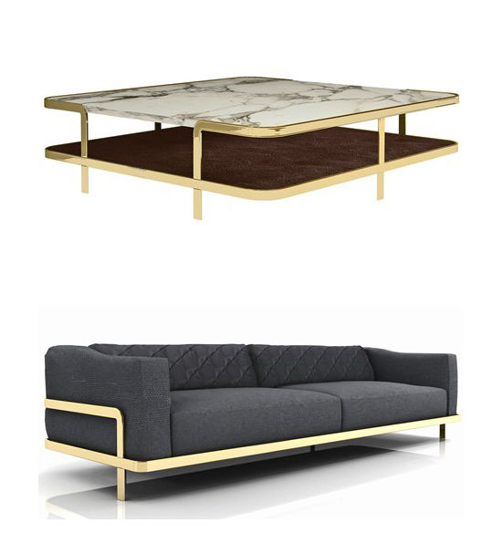 coffee table and sofa nube