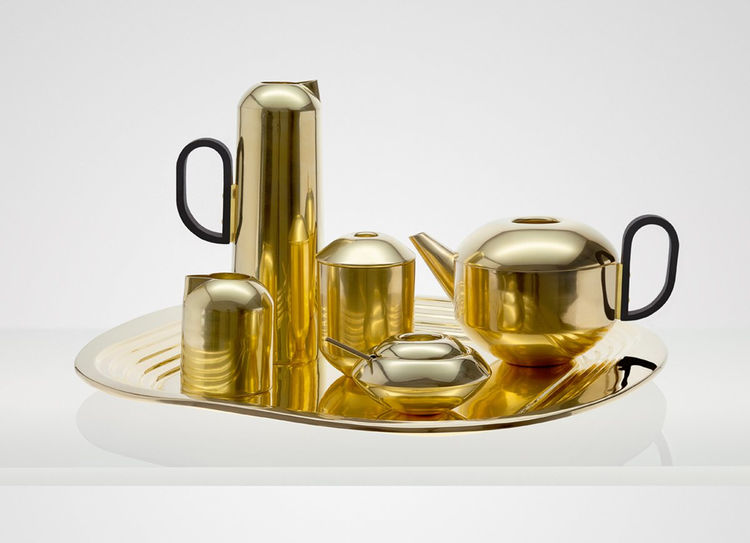 Form Brass Tea Set