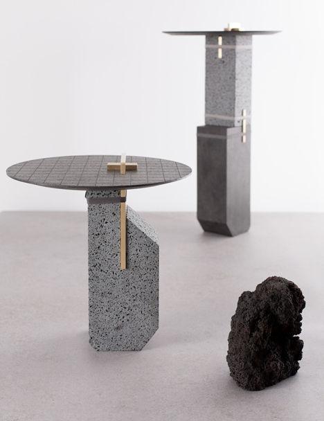 Salone Milan Formafantasma Lava Coffee Tables