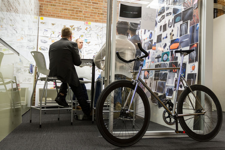 MNML Team During Design Meeting for The Bike Design Project