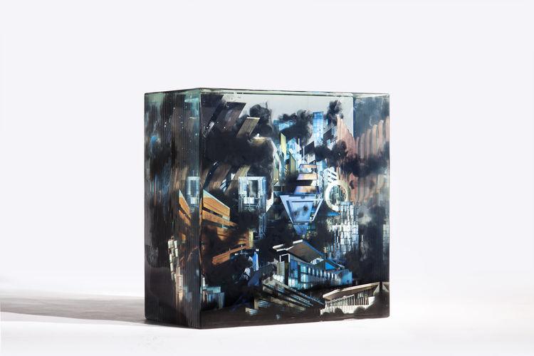 Dustin Yellin City VIII 2013 glass sculpture