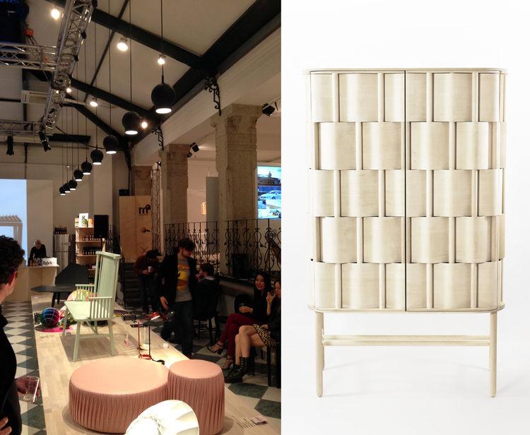 Lukas Dahlén's Weave cupboard Scale of Things Milan Design week 2014