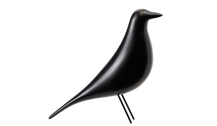 black wooden bird